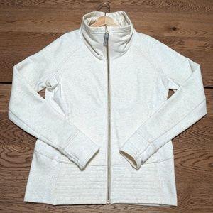 Lululemon jacket sweatshirt ivory white size 12